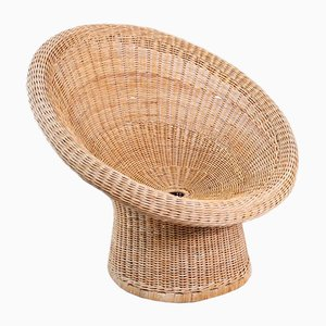 Mid-Century Wicker E10 Chair by Egon Eiermann for Wilde+Spieth