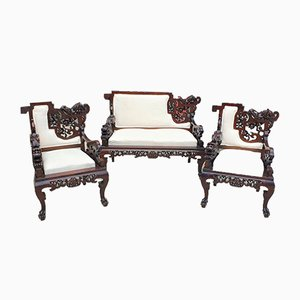 19th Century Japanese Living Room Set by Perret & Vibert for La Maison des Bambous