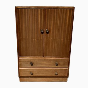 Vintage Tallboy Linen Cabinet Cupboard with Drawers, 1940s