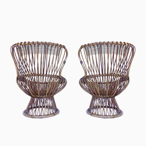 Small Mid-Century Daisy Lounge Chairs by Franco Albini, Set of 2