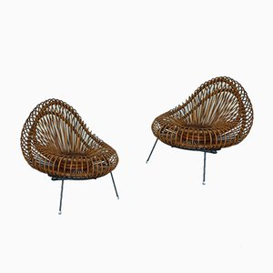 Mid-Century Lounge Chairs by Janine Abraham, Set of 2