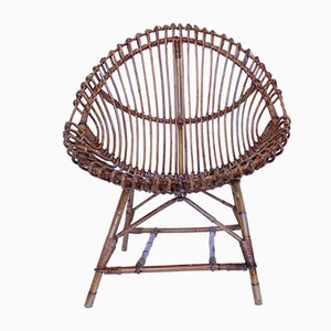 Mid-Century Bamboo Lounge Chair