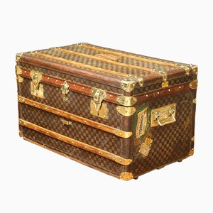 Antique Checkered Trunk
