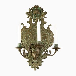 Large 19th Century Neoclassical Style Bronze Wall Light
