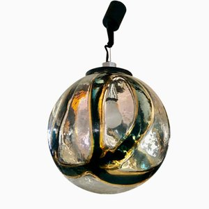 Bi-Color Murano Glass Globe Lamp by Vistosi, 1970s