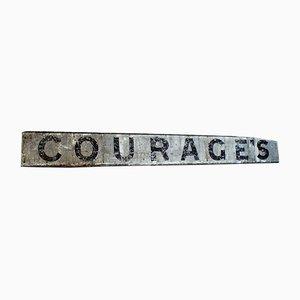 Cartel de tienda victoriano antiguo grande de Courage's