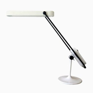 Adjustable Black and White Table Lamp, 1980s