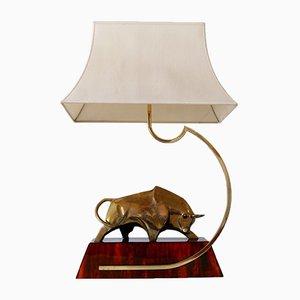 Lampada da tavolo o da tavolo modernista in ottone modernista di D. Delo, Italia, anni '70