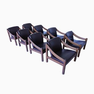 Model Carimate Lounge Chairs by Vico Magistretti for Cassina, 1960s, Set of 8