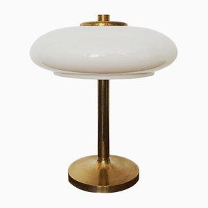 Lampe de Bureau Mushroom en Laiton, 1960s