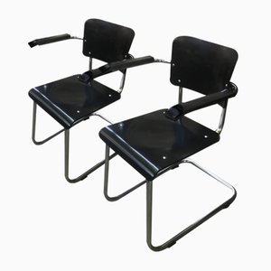 Vintage Bauhaus Chairs by Mart Stam & Marcel Breuer for Drabert, Set of 2
