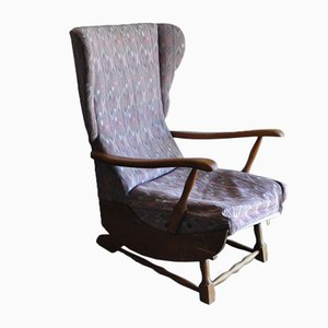 Mid-Century Wooden Rocking Chair, 1950s