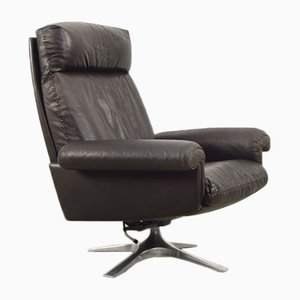 Vintage Leather DS31 Swivel Lounge Chair from de Sede, 1960s