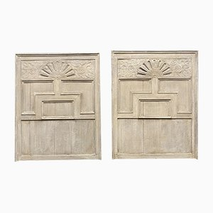 Large Early-19th Century Oak Wall Panels, Set of 2