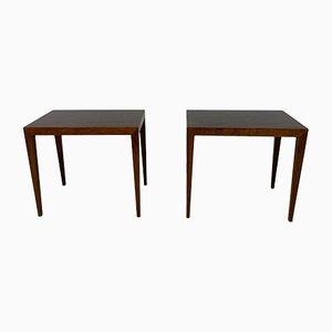 Tables d'Appoint Mid-Century en Palissandre par Severin Hansen, Danemark, 1960s, Set de 2