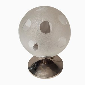Kleine Space Age Tischlampe mit Chromfuß von Richard Essig, 1970er