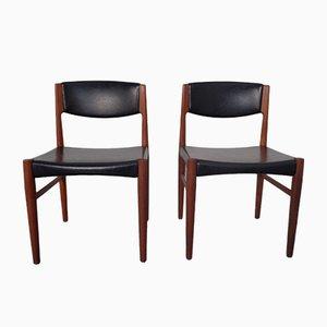 Dänische Teak Esszimmerstühle von Glostrup, 1960er, 2er Set