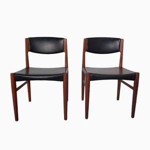 Danish Teak Dining Chairs from Glostrup, 1960s, Set of 2