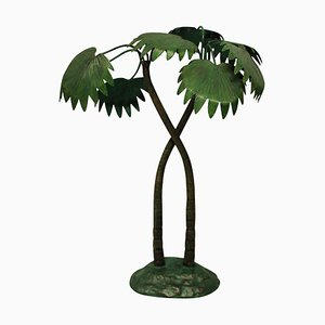Cold Painted Bronze Palm Tree, 1930s