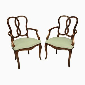 19th Century Venetian Armchairs, Set of 2