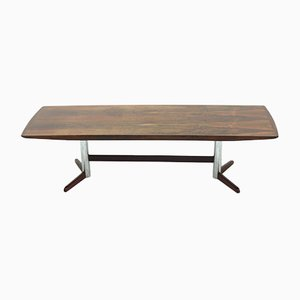 Mid-Century Rosewood and Chrome Coffee Table, 1960s
