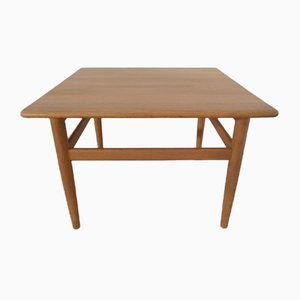 Danish Oak Sofa Table by Niels Bach, 1960s