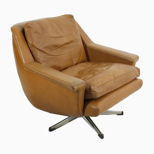 Mid-Century Leather Lounge Chair, 1970s