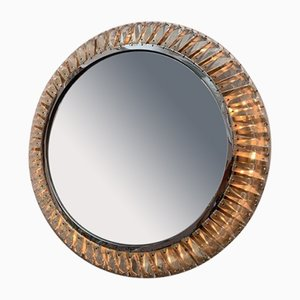 German Illuminated Chrome Wall Mirror from Palwa, 1970s