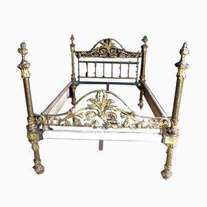 Cabecero Napoleon III de hierro dorado