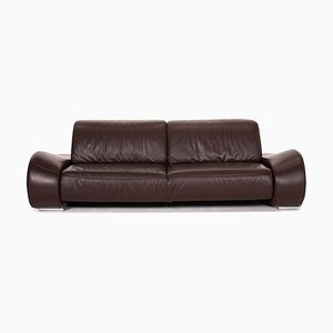 Dark Brown Leather 3-Seat Sofa from Musterring