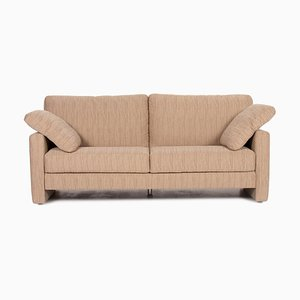 Cream Cappuccino Fabric 2-Seat Sofa from Musterring