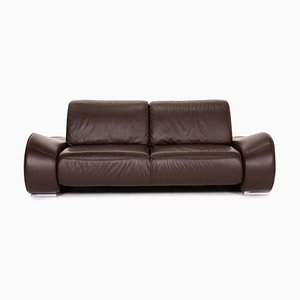 Dark Brown Leather 2-Seat Sofa from Musterring