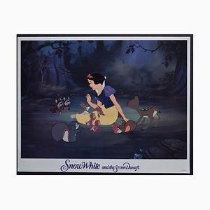 Snow White and the Seven Dwarfs Lobby Card of Walt Disney's Movie, USA, 1930s