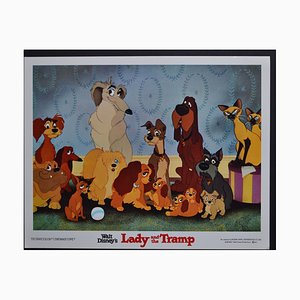 Carte de Vestibule Original Lady and the Tramp de Walt Disney's Movie, USA, 1955