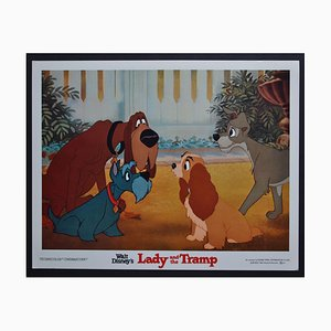 Lady and the Tramp Original Lobby Card of Walt Disney's Movie, USA, 1955