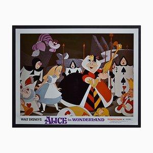 Original Alice Wonderland Lobbykarte von Walt Disney's Film, USA, 1951