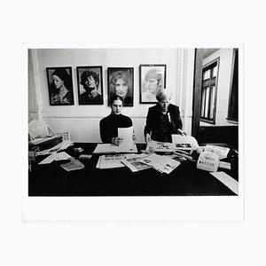 Andy Warhol et Joe Dallesandro au Rolling Stone Magazine, 1971