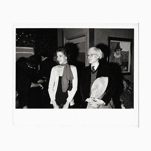 Andy Warhol with a Laughing Woman, 1971
