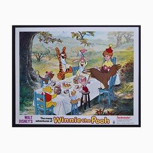 Original amerikanische Winnie the Pooh Lobby-Karte von Walt Disney's Film, USA, 1977
