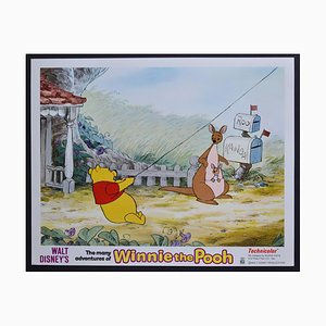 Winnie the Pooh Original American Lobby Card of Walt Disney's Movie, USA, 1977