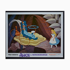 Alice in Wonderland Original Lobby Card of Walt Disney's Movie, USA, 1951