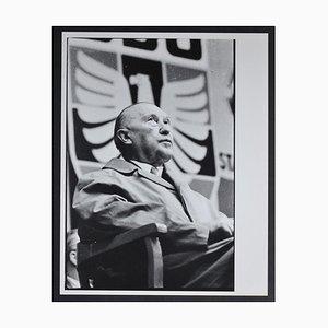 Chancellor Konrad Adenauer Sitting, 1950s