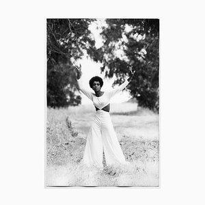 Lola Falana Poses in the Green Photographed by Frank Dandridge, 1969