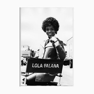 Lola Falana on the Set Photographed by Frank Dandridge, 1969
