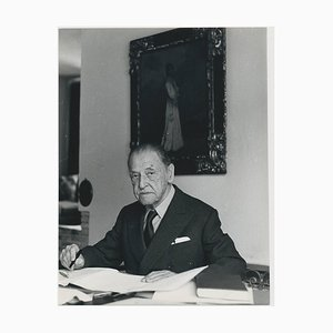 British Playwright W. Somerset Maugham at his Desk, 1958