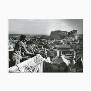 Alcazar in Ruins Civil War Portfolio of 5 Prints, Toledo, Spain, 1936