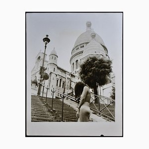 Paris Nude in Front of Sacred Heart, 1970s