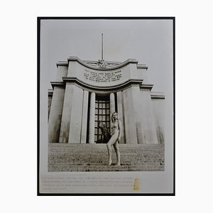 Paris Nude in Front of Musée de l´Homme, 1970s