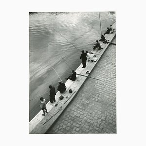 Fisher in the Morning Seine, Paris, 1955