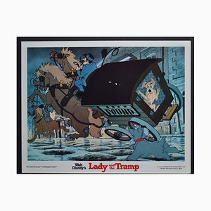 Biglietto da visita Lady and the vlamp del film Walt Disney, USA, 1955